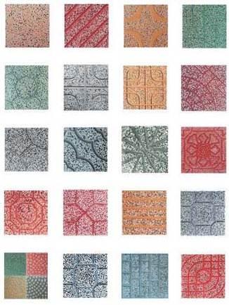 Phú Điền - Các hoa văn phổ biến của gạch Terrazzo