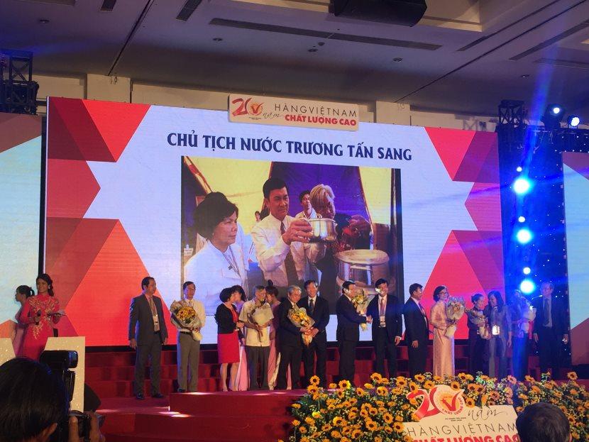 Chủ tịch nước Trương Tấn Sang dự và traong chứng nhận