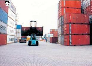 Phú Điền- ứng dụng gạch block- kho chứa container